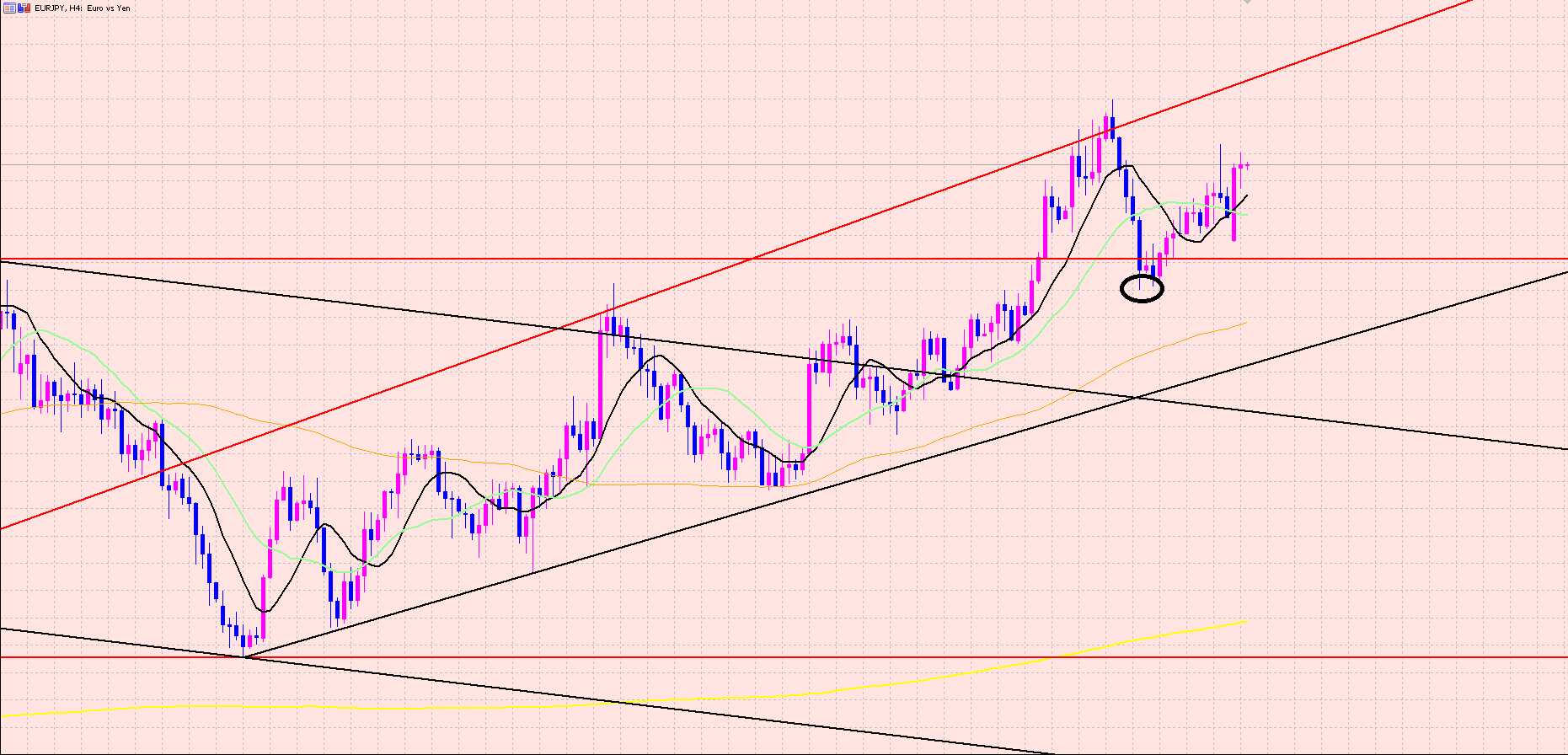 ユーロ円 指標をもってトレードする♫